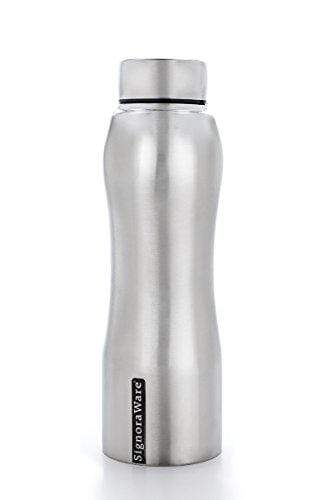 Signoraware Oxy Stainless Steel Water Bottle, 500ml/30mm, Silver B079W1RZ78
