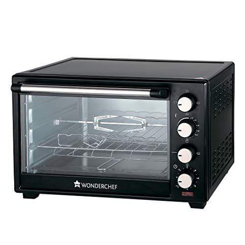 Wonderchef 40-Litre Oven Toaster Grill with Convection and Rotisserie (Black) - KITCHEN MART
