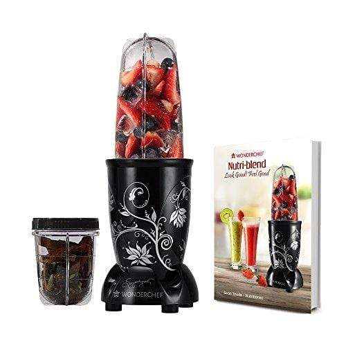 Wonderchef 400 Watt Nutri-Blend Black Recipe Book by Sanjeev Kapoor. - KITCHEN MART
