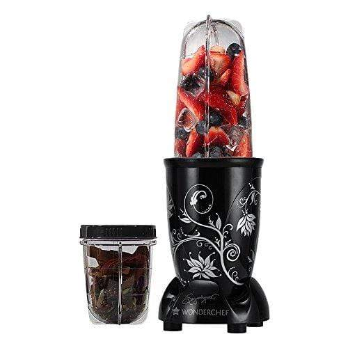 Wonderchef 400 Watt Nutri-Blend  with Free Servin Glass Set (Black) - KITCHEN MART