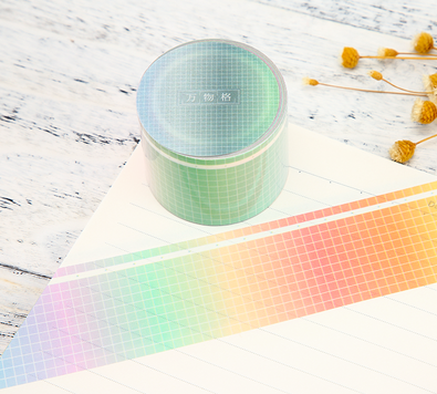 Colorful Grid Washi Tapes Rainbow Deco Tapes