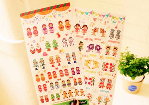 2 sheets Story and Toy Index Stickers Page Marker Planner Stickers Deco Stickers