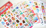 12 sheets Yummy Friends Stickers Deco Stickers