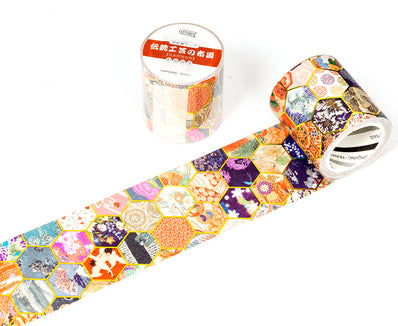 Traditional Japanese Fabric Pattern Washi Tape Gold Foil Washi Tapes Deco Tapes