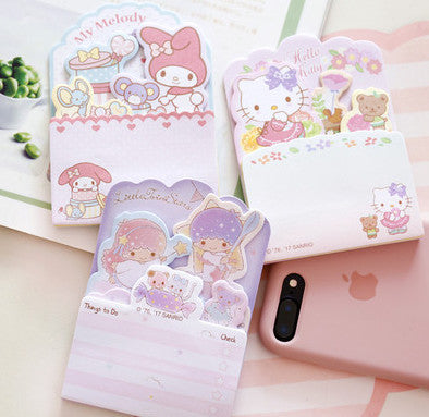 Sanrio Sticky Notes Hello Kitty Little Twin Stars Kikilala My Melody Sticky Memo