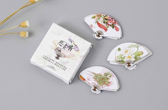 45pcs Chinese Fan Stickers Deco Stickers