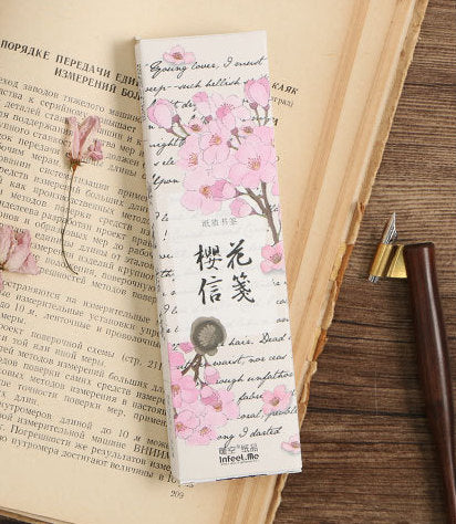 30pcs Sakura Bookmark Set Cherry Blossoms Bookmarks Book Accessories