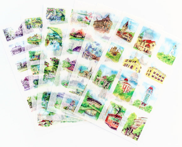 6 sheets Travel Stickers Deco Stickers