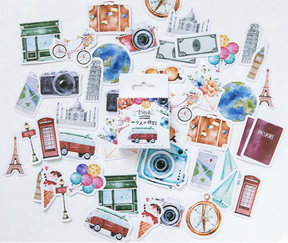 45pcs Travel Stickers Deco Stickers