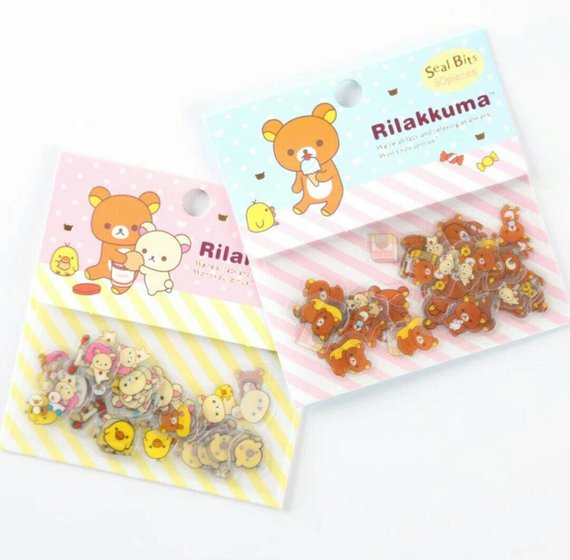 80pcs Rilakkuma Sticker Pack Seal Bits Bear Deco Stickers