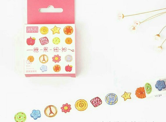 Candy Button Washi Tapes Deco Tapes