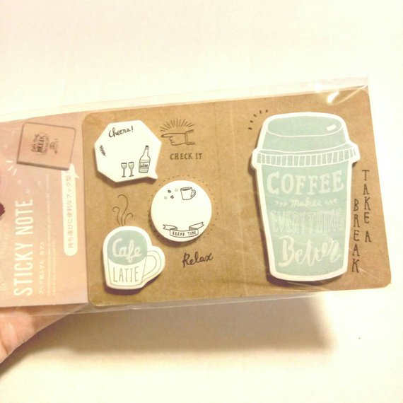 Coffee Sticky Notes Daiso Sticky Memo