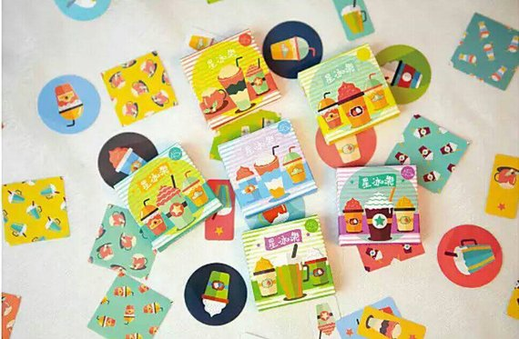 45pcs Coffee Stickers Drinks Stickers Deco Stickers