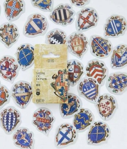 45pcs Medal Stickers Deco Stickers