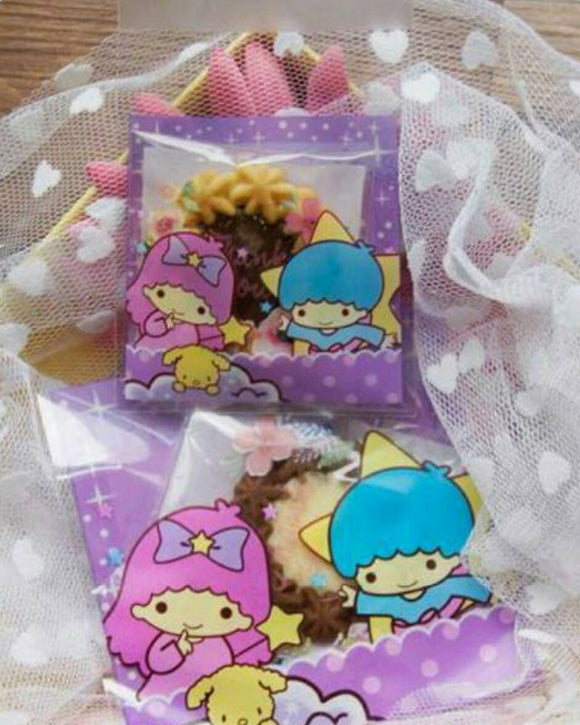 100 Little Twin Stars Gift Bags 7 x 7cm Resealable Bags 10 x 10cm Self  Adhesive 4ab24dbb51f5a
