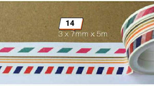 3 rolls Stripes Washi Tape Set Thin Washi Tapes