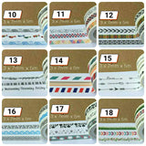 3 rolls Black and White Washi Tape Thin Washi Tape Deco Tape