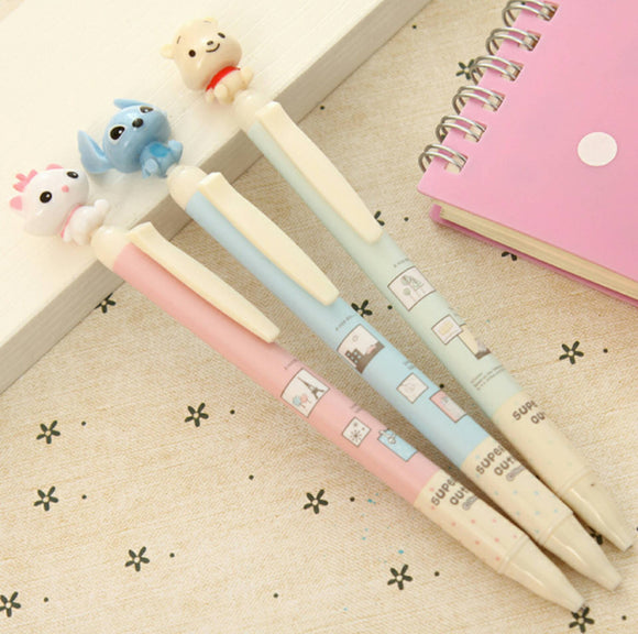 3 Mechanical Pencils Stationery Winnie the Pooh Marie Stitch Disney Pencil 0.5mm Scrapbooking Writing Tool Planner Diary Automatic Pencil