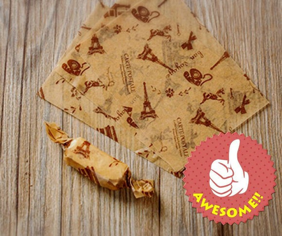 50 sheets Eiffel Tower Wax Paper Nougat Paper Nougat Wrapper Candy Chocolate Wrapper Food Craft Supplies Soap Paper Greaseproof Baking Paper