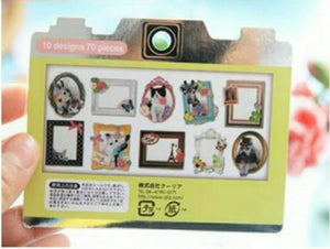 70pcs Q-LiA Animals and Frames Stickers Deco Stickers