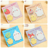 Set of 4 Molang Sticky Notes Sticky Memo