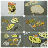7pcs Photo Booth Props Gudetama Photo Prop Set My Melody Hello Kitty Party Supplies Cinnamoroll