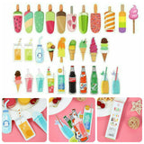 30pcs Ice Cream Bookmark Set Drinks Book Accessories