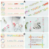 3 rolls Floral Washi Tape Set Plants Washi Tapes Deco Tapes