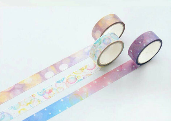 3 rolls Bubbles Washi Tape Set Deco Tapes