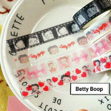4 rolls Betty Boop Washi Tape Set Deco Tapes