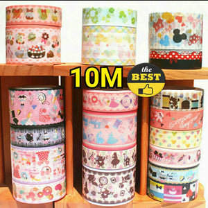 2 rolls Mickey Mouse Washi Tape Set Deco Tape Planner Tape Minnie Mouse Washi Tapes Set Cinderella Washi Tape Princess Washi Tape