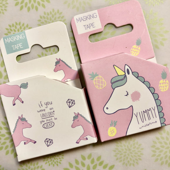 Set of 2 Unicorn Washi Tape Deco Tapes