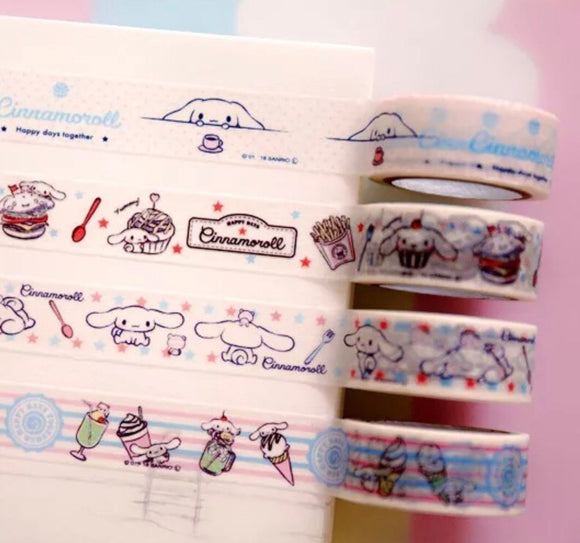 4 rolls Cinnamoroll Washi Tape Set Deco Tapes