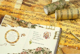Wide Washi Tapes Rose Washi Tape Music Notes Washi Tapes Flower Deco Tapes
