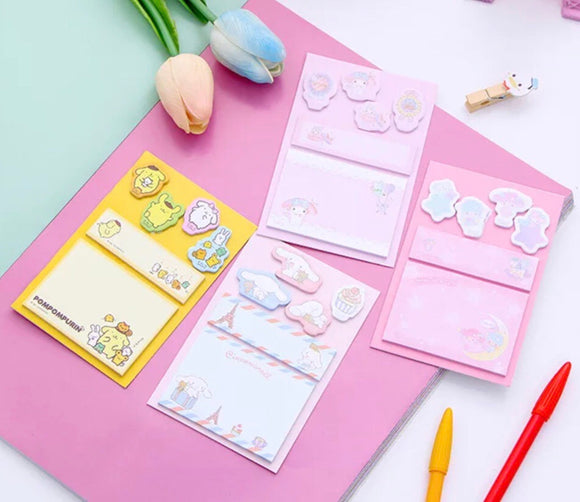 Sanrio Sticky Notes My Melody Cinnamoroll Little Twin Stars Kikilala Pompompurin Sticky Memo