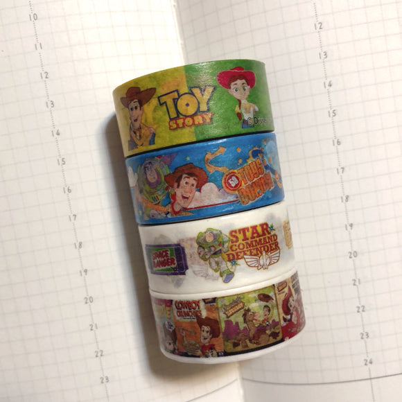 4 rolls Toy Story Washi Tape Set Deco Tapes
