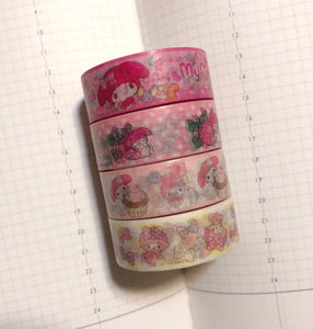 4 rolls My Melody Washi Tape Set Deco Tapes