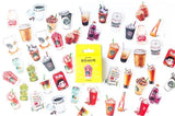 45pcs Drinks Stickers Coffee Stickers Deco Stickers