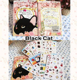 8 sheets Cat Sticker Pack Deco Stickers