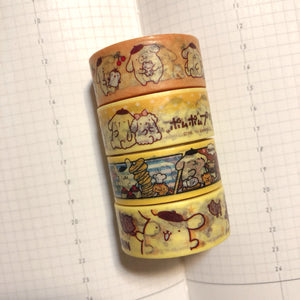4 rolls Pompompurin Washi Tape Set Deco Tapes