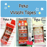 4 rolls Peko Washi Tape Set Peko Chan Deco Tapes