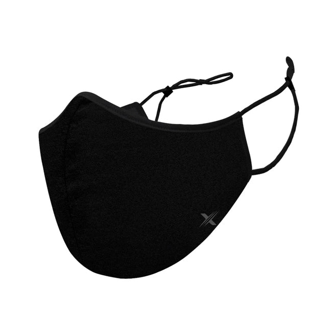 Solid Black Cloth Masks with Filter Pockets