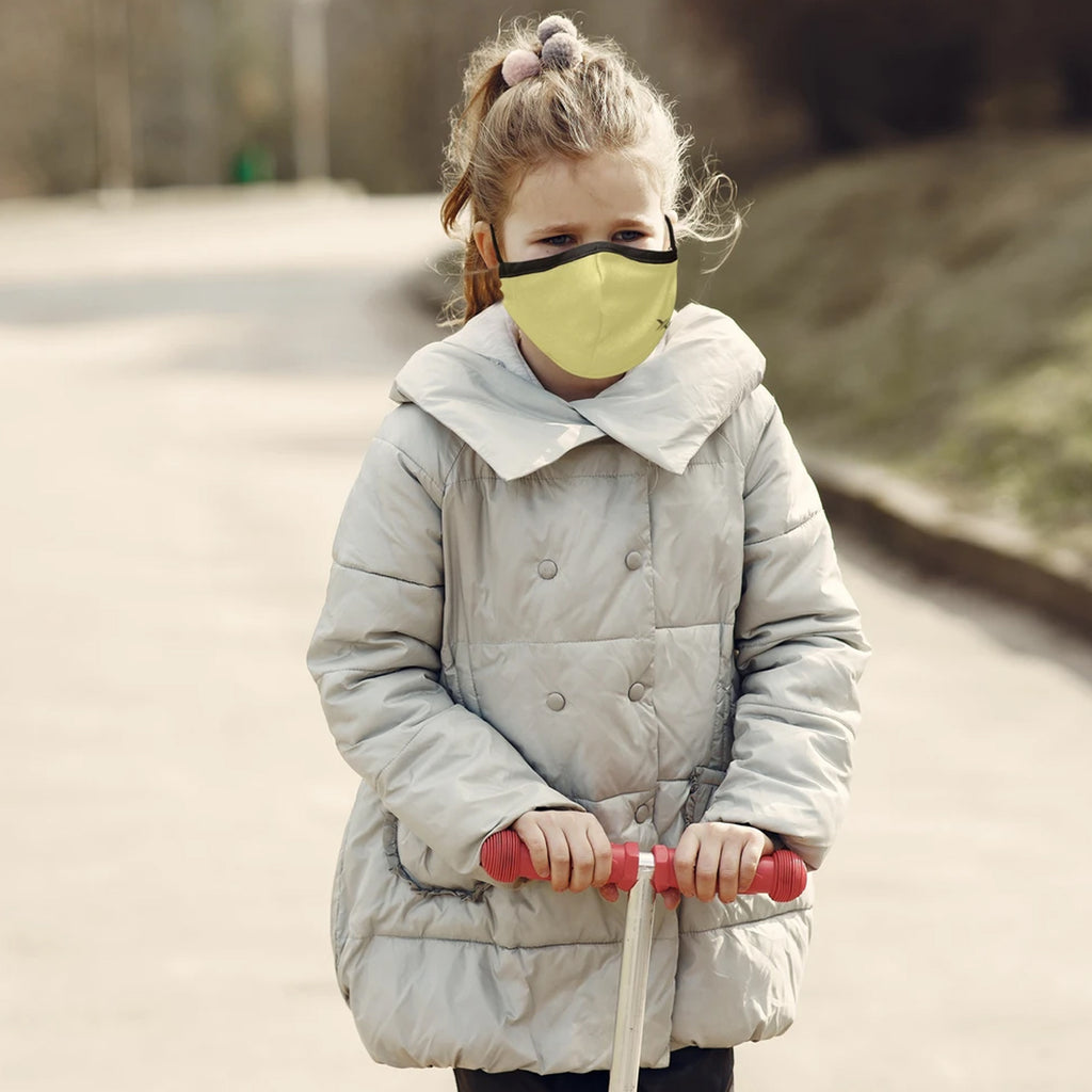 Kid's Solid Color Reusable Cloth Mask