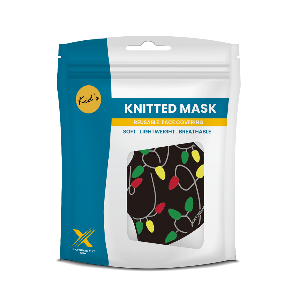 Kid's Festive Holiday Reusable Face Masks. 3+ Years
