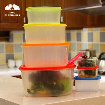 Two Elephants™ Multi-Color Food Storage Container Set – Square