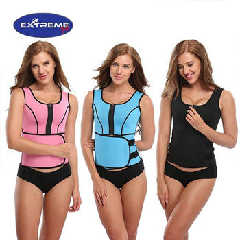 Extreme Fit™ Neoprene Tank Vest with Adjustable Waist Trainer Belt