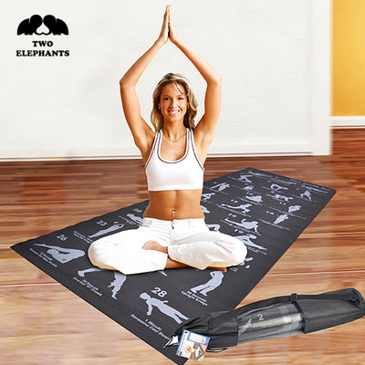 Two Elephants™ Back Strength Yoga Mat with 28 Position Guide