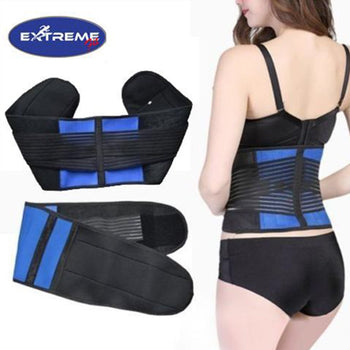 Extreme Fit™ Neoprene Double Pull Lumbar Support Adjustable Lower Back Brace Belt Pain Relief