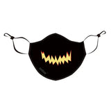 JAGGED SMILE Halloween Print Reusable Cloth Mask
