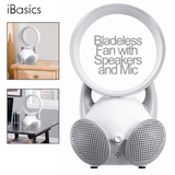 iBasics USB Bladeless Fan Dual Speaker with Hands Free Mic
